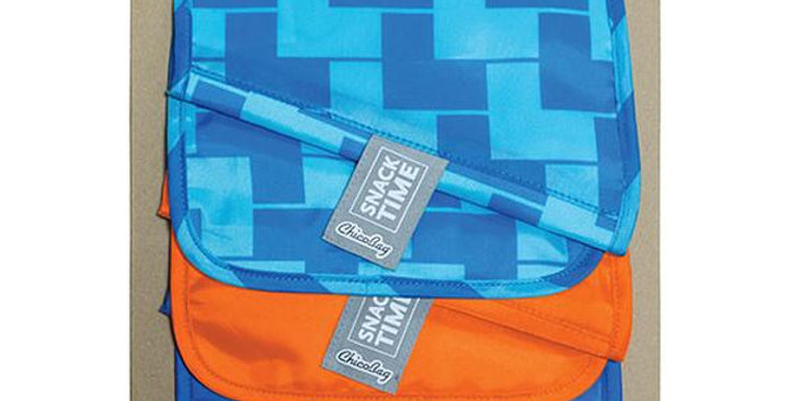 """CHICOBAG ASSORTED COLORS 10 PACK REUSABLE POLYESTER SNACK BAGS 6 1/2"""" X 9 1/2"""""""
