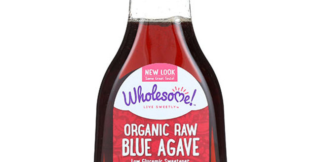 WHOLESOME SWEETENERS ORGANIC RAW BLUE AGAVE SYRUP 11.75 OZ.