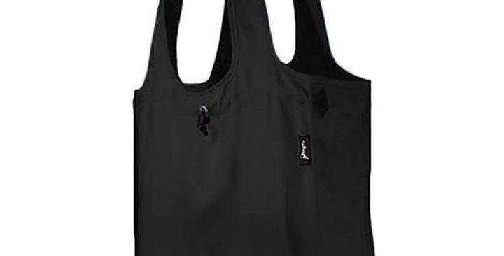"""Bagito Black Granite Fabric Reusable Bag 14"""" x 15"""" x 6"""""""