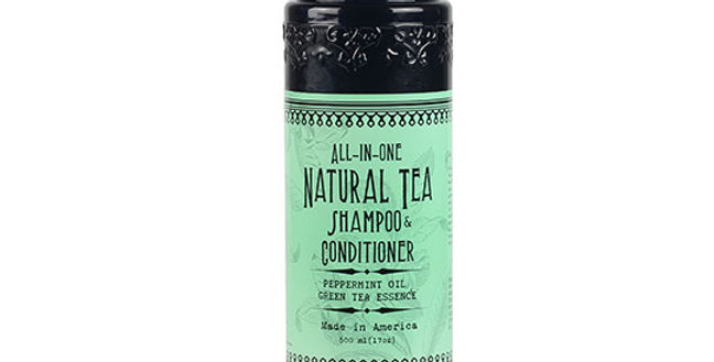 VIRGINIA FIRST TEA FARM PEPPERMINT & GREEN TEA ALL-IN-ONE SHAMPOO & CONDITIONER