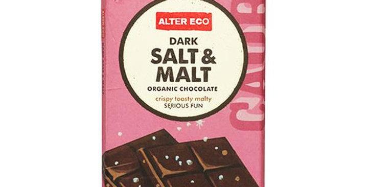 Alter Eco Organic Dark Salt & Malt 70% Cocoa Chocolate Bar 2.82 oz.
