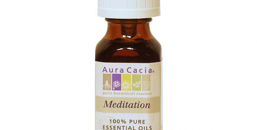 Aura Cacia Meditation Essential Oil Blend 0.5 fl. oz.