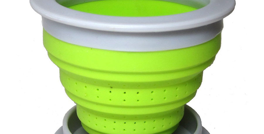 THE TEA SPOT GREEN FOLDING STEEPER WITH LID