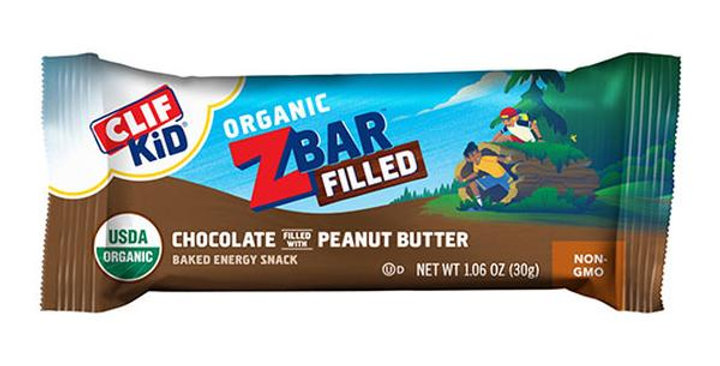 CLIF BAR CHOCOLATE PEANUT BUTTER CLIF KIDS ZBARS FILLED 12 (1.06 OZ.) BARS