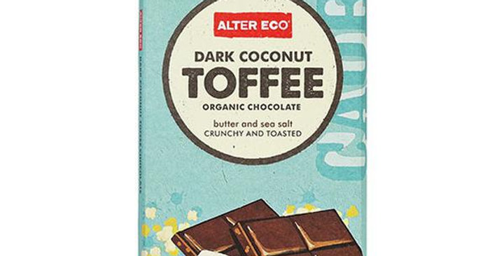 Alter Eco Organic Dark Coconut Toffee 47% Cocoa Chocolate Bar 2.82 oz.