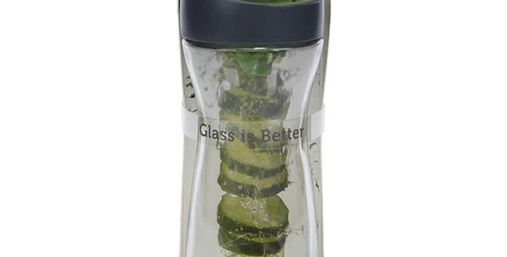 FULL CIRCLE WHEREVER WATER GLASS BOTTLE WITH CUCUMBER INFUSER 20 OZ.