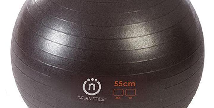 NATURAL FITNESS YOGA 55CM PRO BURST RESISTANT EXERCISE BALL 300 LBS., 55CM