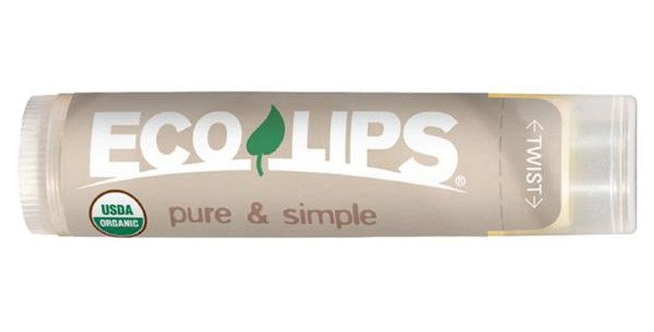 ECO LIPS COCONUT PURE & SIMPLE LIP BALM 0.15 OZ.