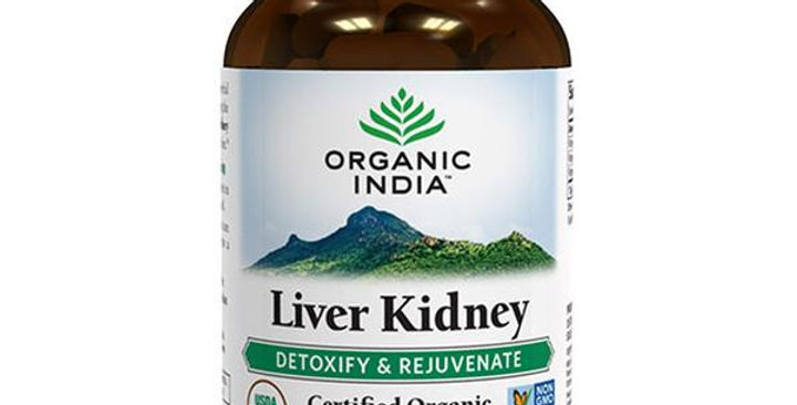 ORGANIC INDIA LIVER KIDNEY HERBAL SUPPLEMENT 90 VEGGIE CAPSULES