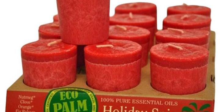 Aloha Bay Holiday Spice Red Votive Candles