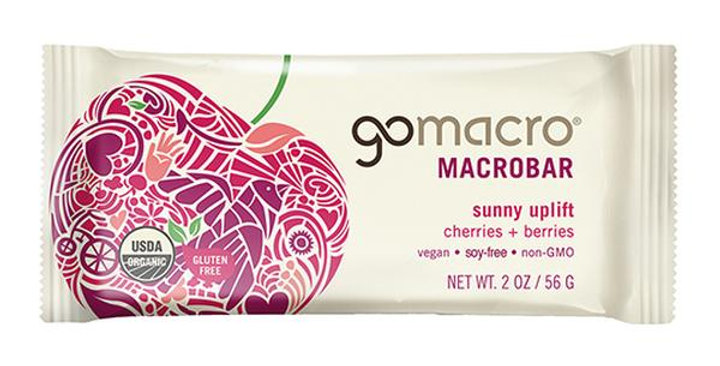 GOMACRO CHERRIES + BERRIES MACROBAR 2 OZ.
