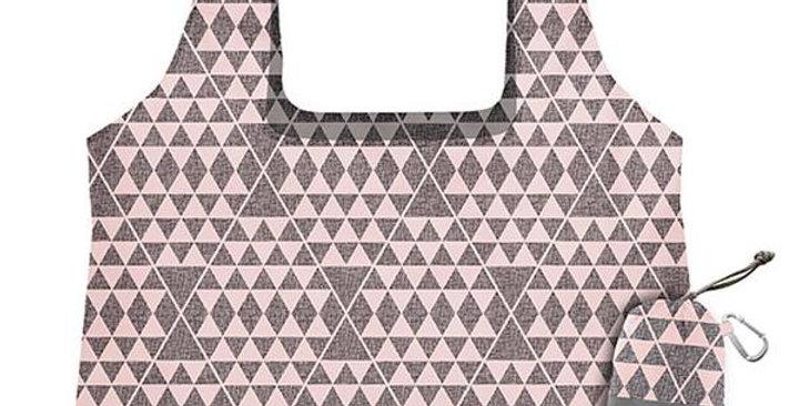 CHICOBAG PINK & GRAY TRIANGLES IMPRESSION VITA ABSTRACT REUSABLE SHOPPING BAG 19
