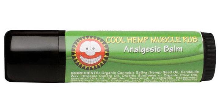 THE MERRY HEMPSTERS VEGAN HEMP COOL MUSCLE RUB 0.6 OZ.