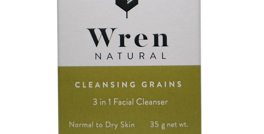 WREN NATURAL 3-IN-1 FACIAL CLEANSING GRAINS FOR NORMAL TO DRY SKIN 2 OZ.