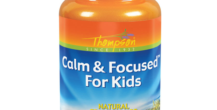 THOMPSON GRAPE FLAVORED CALM & FOCUSED CHEWABLES FOR KIDS 30 CHEWABLES