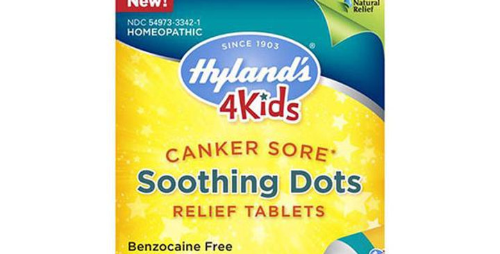 HYLAND'S 4 KIDS CANKER SORE SOOTHING DOTS RELIEF 50 TABLETS