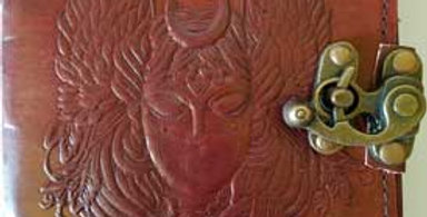 Moon Goddess Leather Blank Book w/ Latch