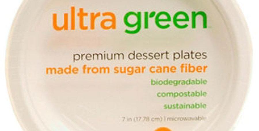 """ULTRA GREEN DESSERT PLATE 7"""", 40 COUNT"""