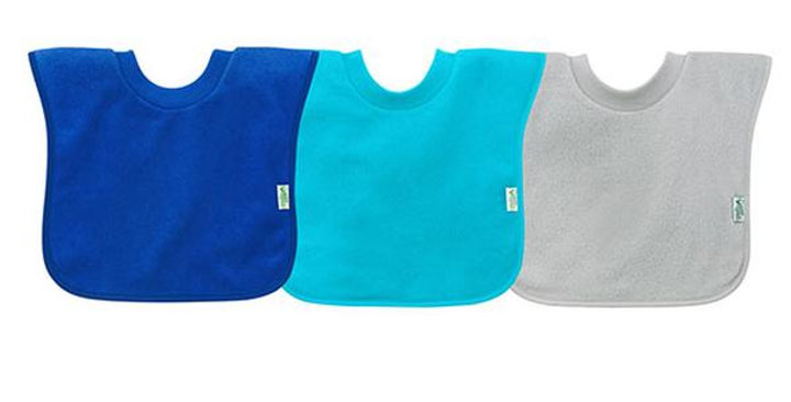 GREEN SPROUTS PULLOVER FOOD BIBS 9-18 MONTHS 3 PACK
