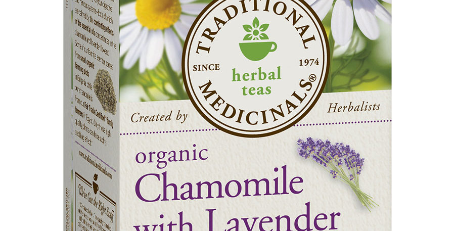 TRADITIONAL MEDICINALS ORGANIC CHAMOMILE WITH LAVENDER TEA 16 TEA BAGS