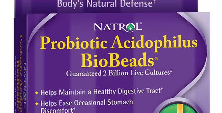 NATROL BIOBEADS PROBIOTIC ACIDOPHILUS 90 BEADS