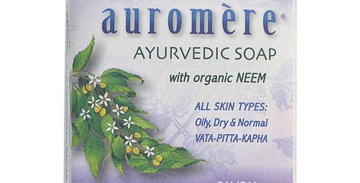 Auromere Lavender-Neem Ayurvedic Bar Soap 2.75 oz.