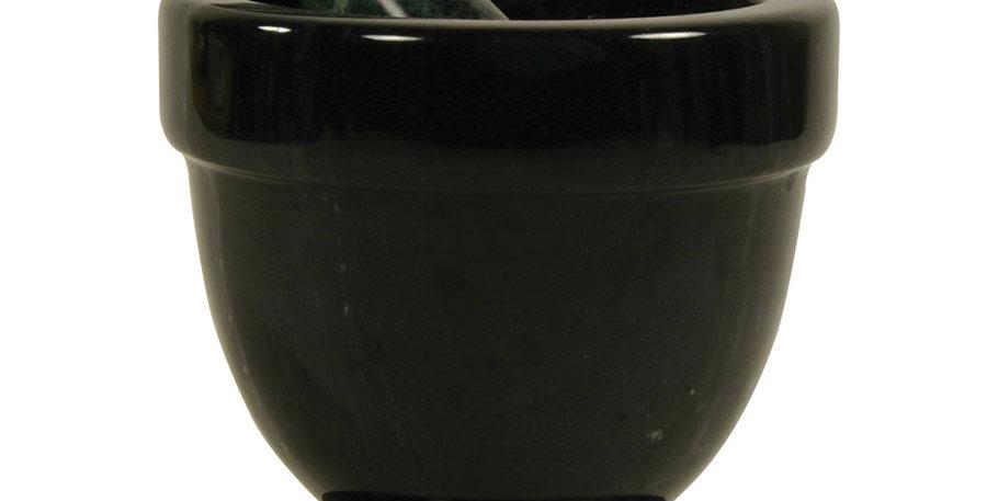 "4"" Black Marble Mortar & Pestle"
