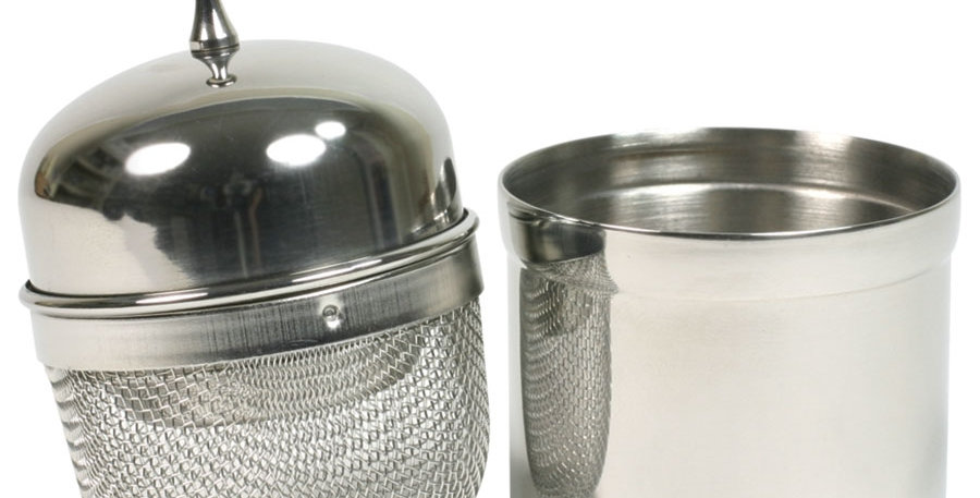 Stainless Steel Floating Tea Infuser with Caddy