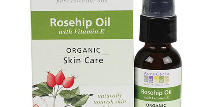 Aura Cacia Organic Rosehip Skin Care Oil (Boxed) 1 fl. oz.