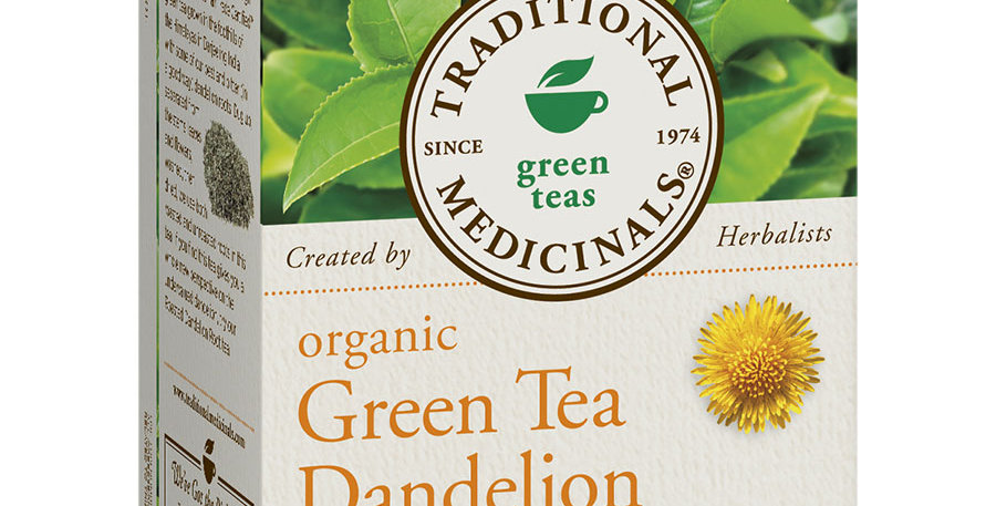 TRADITIONAL MEDICINALS ORGANIC GREEN DANDELION TEA 16 TEA BAGS