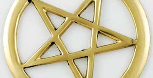 Brass Cut-Out Pentacle