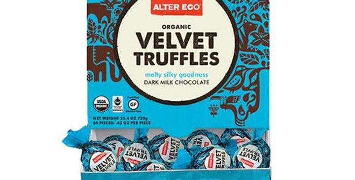 Alter Eco Organic Dark Chocolate Velvet Coconut Oil Truffles 60 count display