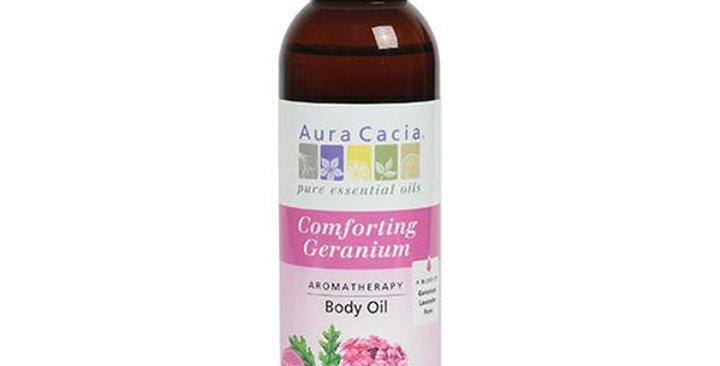 Aura Cacia Geranium Body Oil 4 fl. oz.