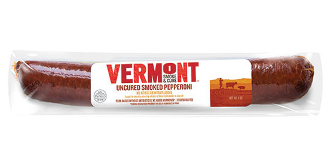 VERMONT SMOKE & CURE UNCURED SMOKED PEPPERONI 6 OZ.