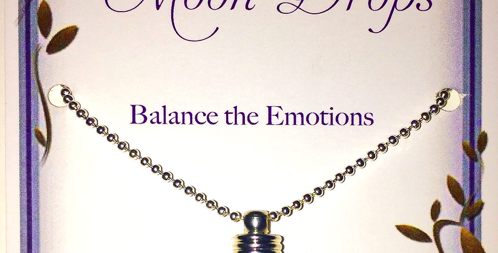 SILVER MOON DROP PENDANT FOR THE BALANCE OF EMOTIONS