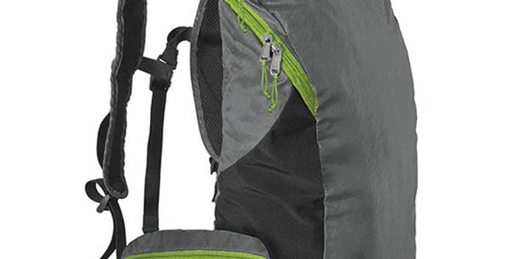 """CHICOBAG STORMFRONT GRAY REUSABLE REPETE TRAVEL PACK 10"""" X 17"""" X 6"""""""