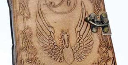 Eye of Horus Leather blank Book w/ Latch