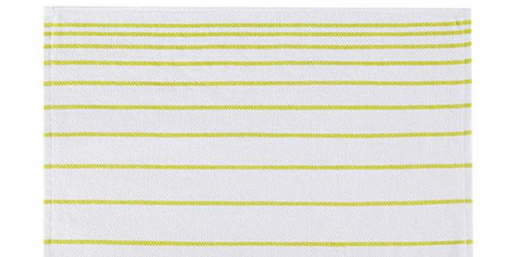 "FULL CIRCLE STRIPES LIME ORGANIC COTTON KITCHEN TOWEL 15"" X 25"""