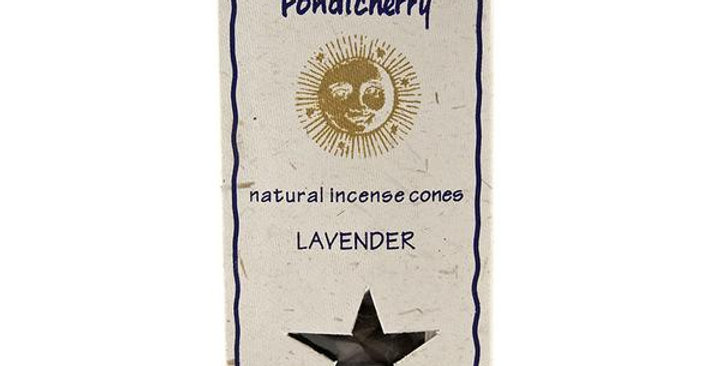PONDICHERRY NATURAL LAVENDER INCENSE CONES 20 COUNT