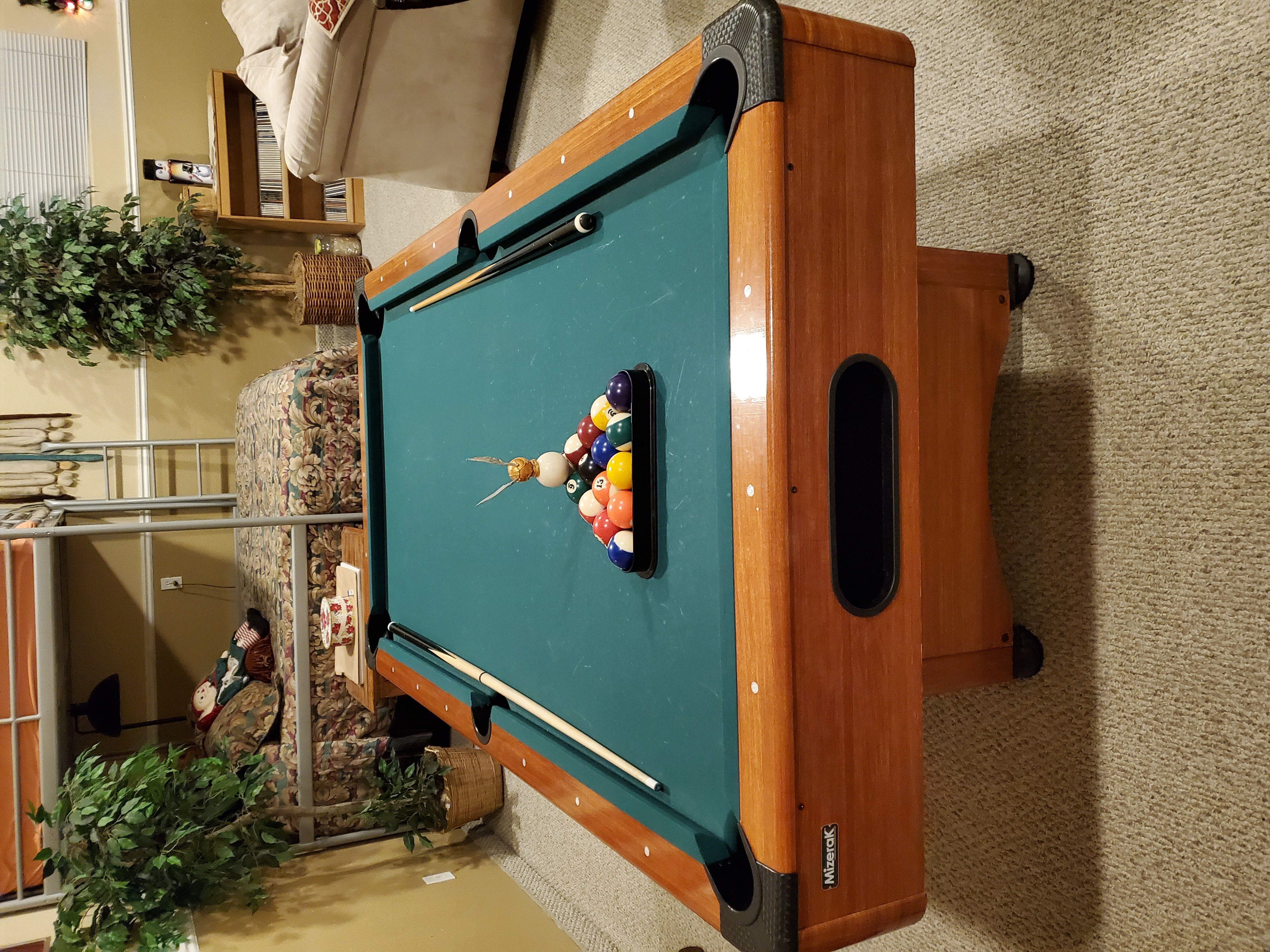 theater room pool table