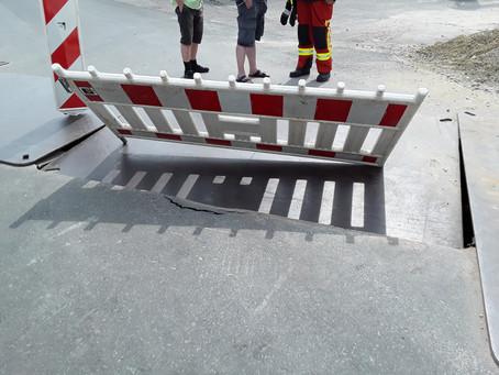 Verkehrssicherung an Baustelle