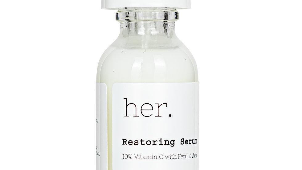 her. 10% Vitamin C with Ferulic acid