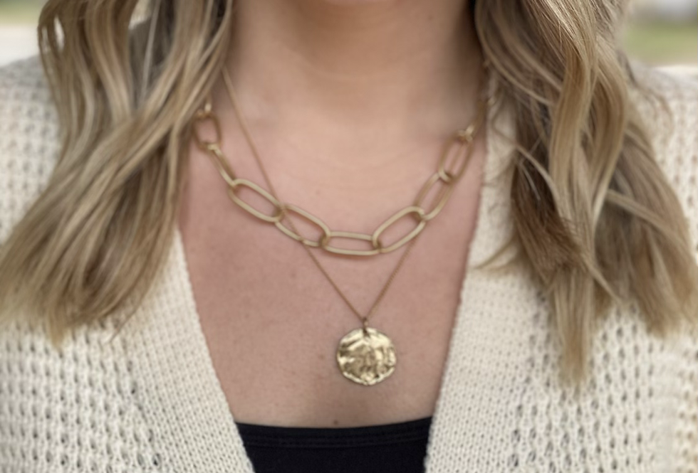 Chain and Coin Necklace