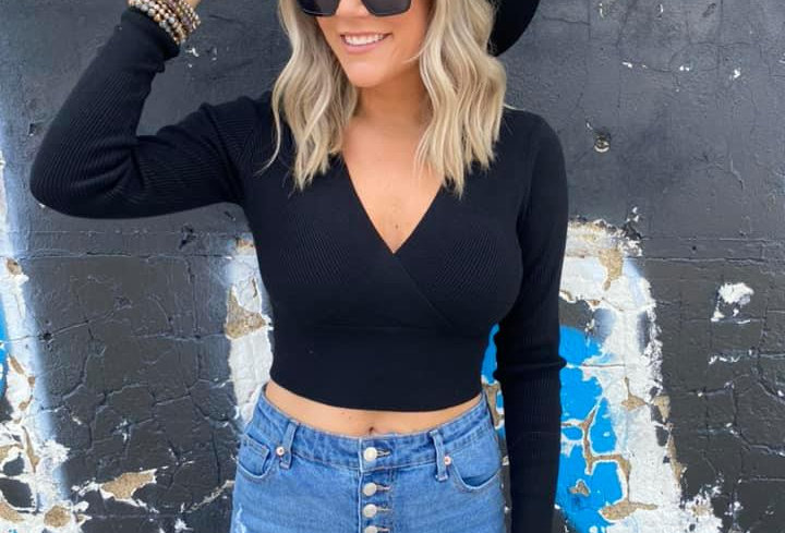 If I Fall Cropped Sweater