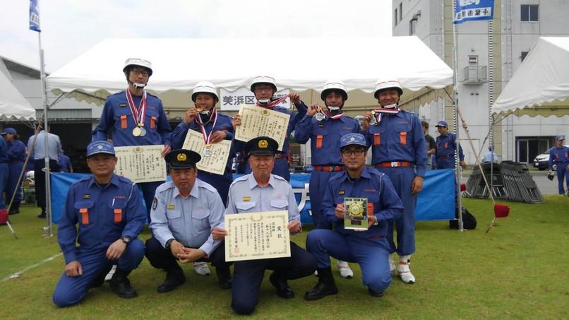 幕張西浜田消防団 千葉市小型ポンプ操法準優勝