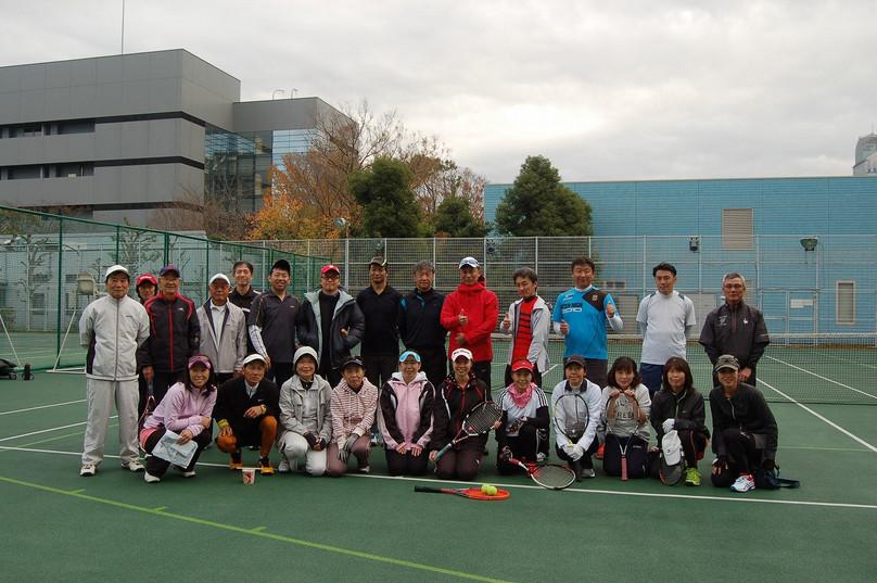 硬式テニス紅白試合