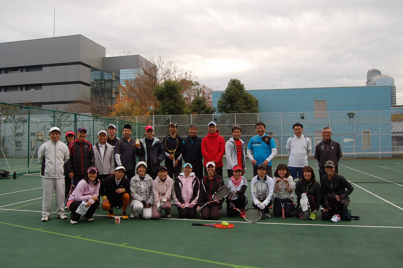 硬式テニスクラブ紅白試合