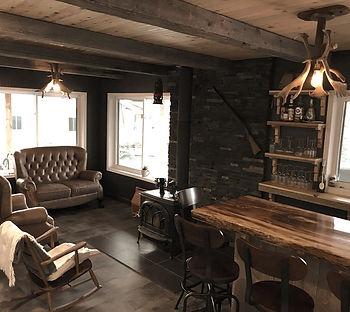intérieur pourvoirie Damville luxe et confort nord lac St Jean Québec au Canada, chalets location, été et hiver
