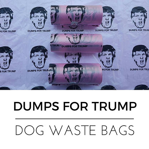 DUMPS FOR TRUMP WASTE  BAGS - 3 ROLLS (45 BAGS)