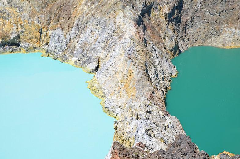 three lakes sulphuric reaction mountains photograph